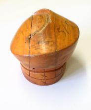 1960's Clefted Beret 5 Piece Puzzle Hat Block